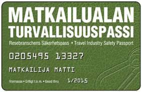 Matkailualan turvallisuuspassi (MATUPA) (941100)
